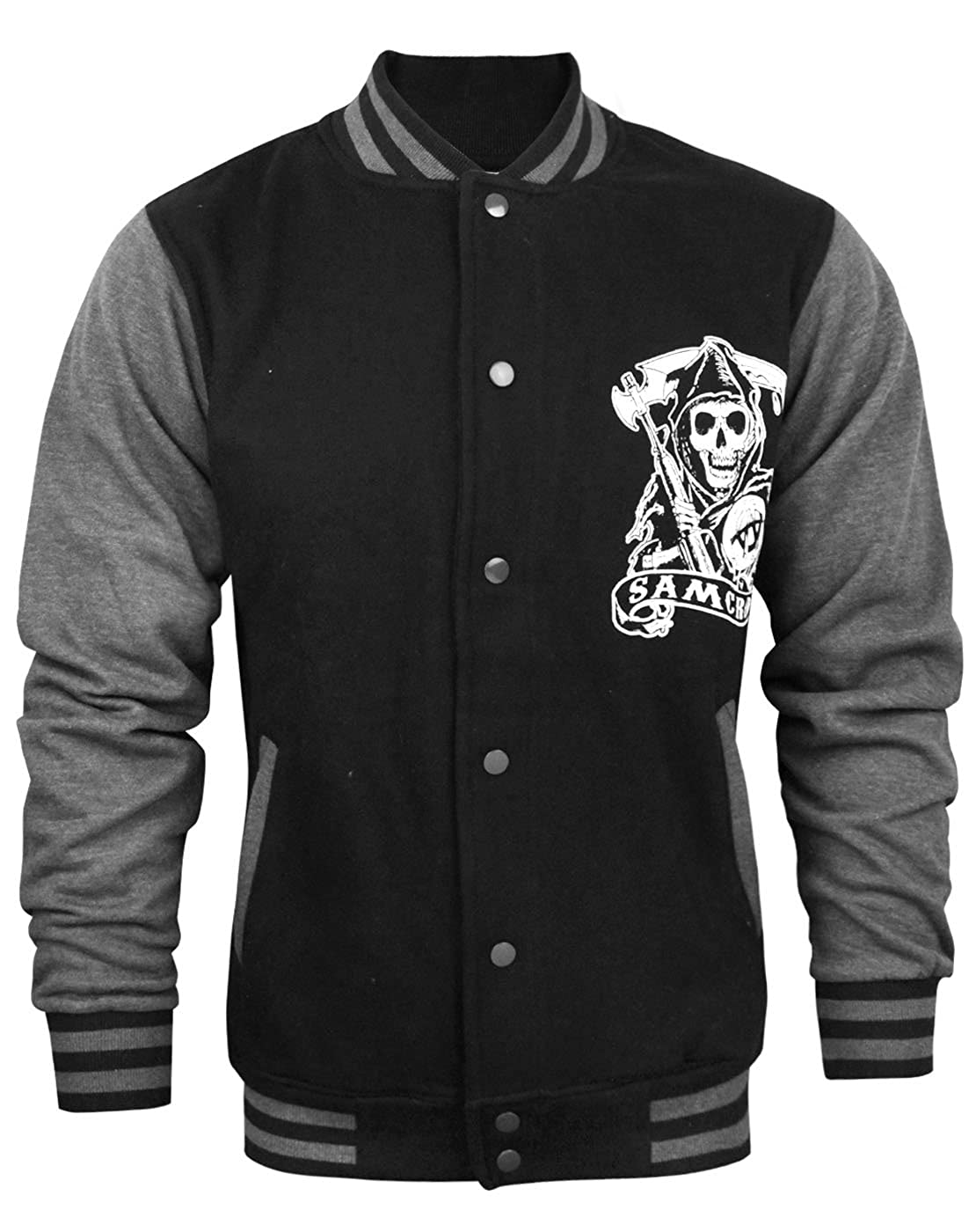 Official Sons Of Anarchy Men\'s Varsity Jacket
