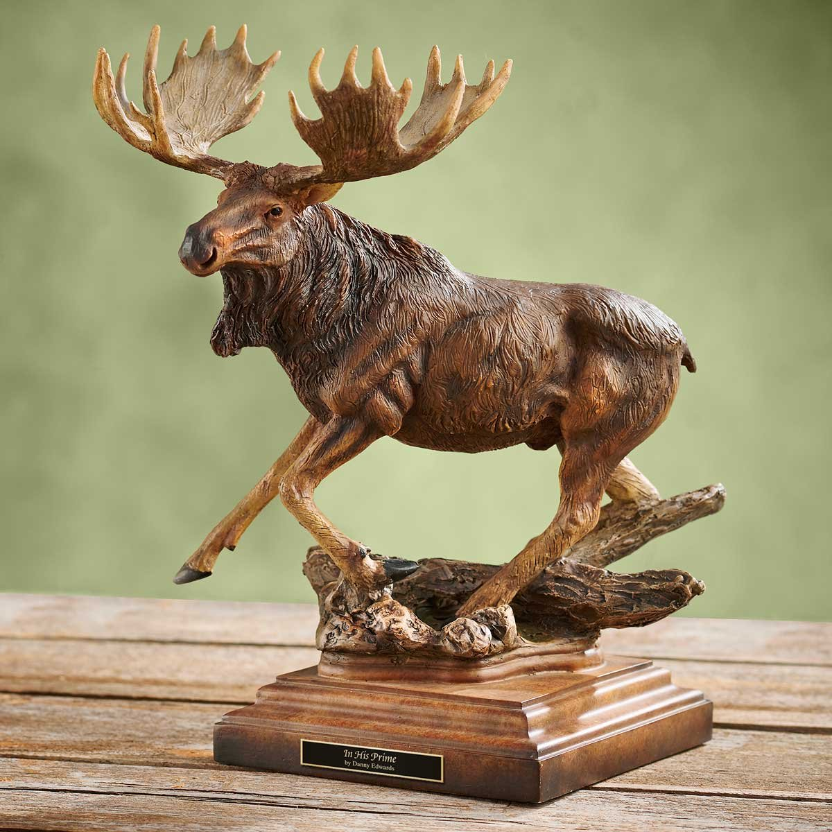 Wild Wings in His Prime – Moose Sculpture by Danny Edwards