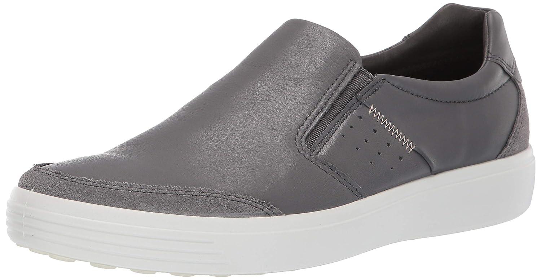 Titanium Suede Dark Shadow ECCO shoes Men's Soft 7 Woven Sneakers