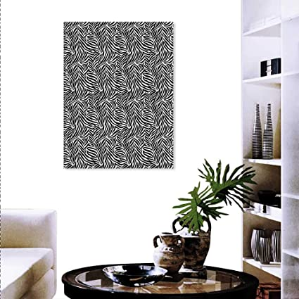 Amazon.com: Zebra Print Decor Wall Art Canvas Prints Animal ...
