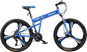Fitness Minutes Folding Bike, Blue, FM-F26-03M-BL