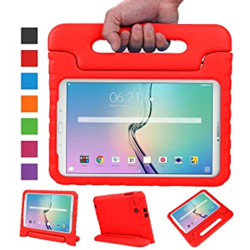NEWSTYLE Galaxy Tab E 9.6 Funda, EVA Ligera Carcasa para Samsung Galaxy Tab E/Tab E Nook 9.6 Inch 2015 Tablet(Rojo)