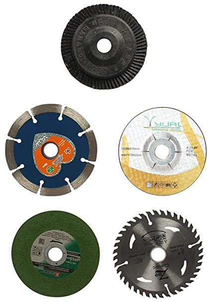 Sinal Combo Offer of 4 inches or 110 mm Wheel-Grinding Angle Grinder, Set of 5
