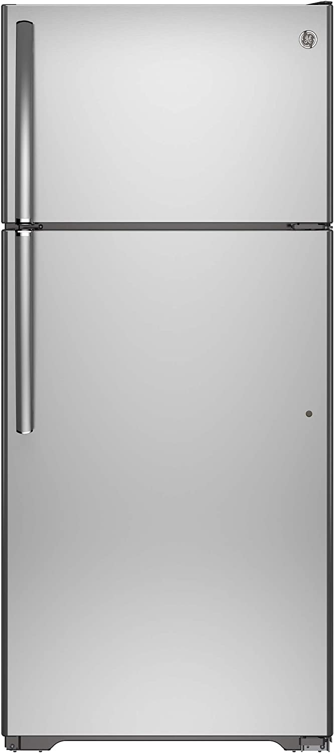 GE GIE16GSHSS 15.5 Cu. Ft. Stainless Steel Top Freezer Refrigerator - Energy Star - Right Hinge