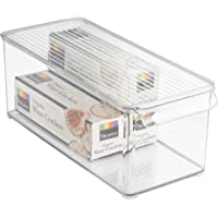 iDesign 73530 Plastic Refrigerator and Freezer Storage Bin with Lid, BPA-Free Organizer for Kitchen, Garage, Basement, 6…