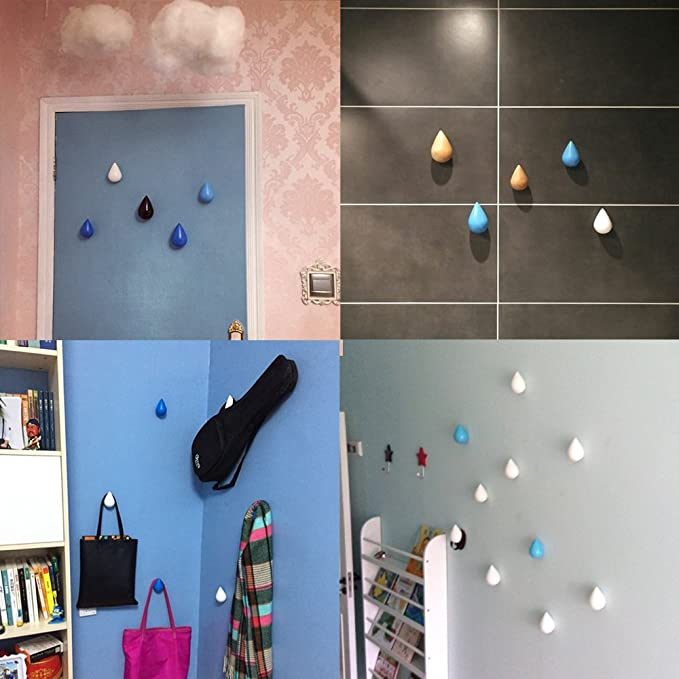 Amazon.com: 2pcs creativo de madera ganchos de pared ...