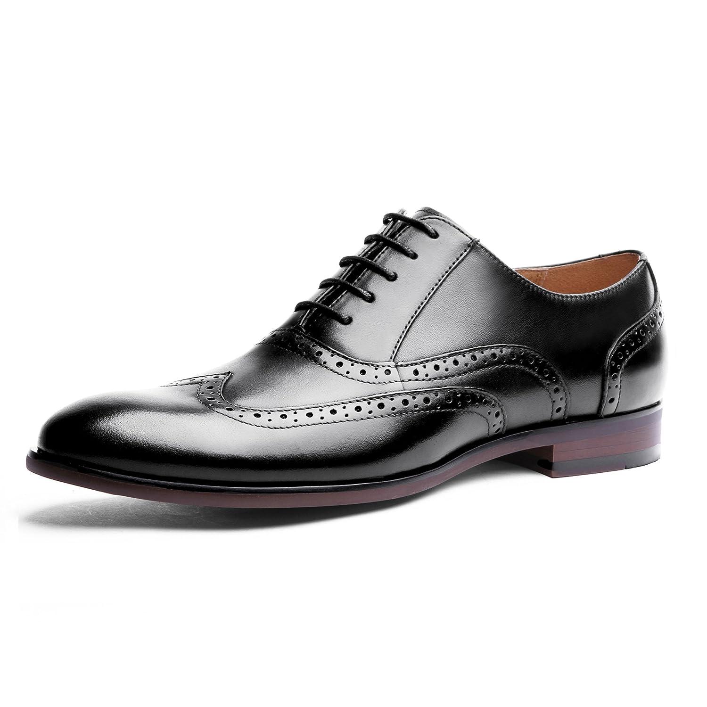 TALLA 43 EU. Desai Zapato Brogue con Cordones Oxford para Hombre Negro/Marrón