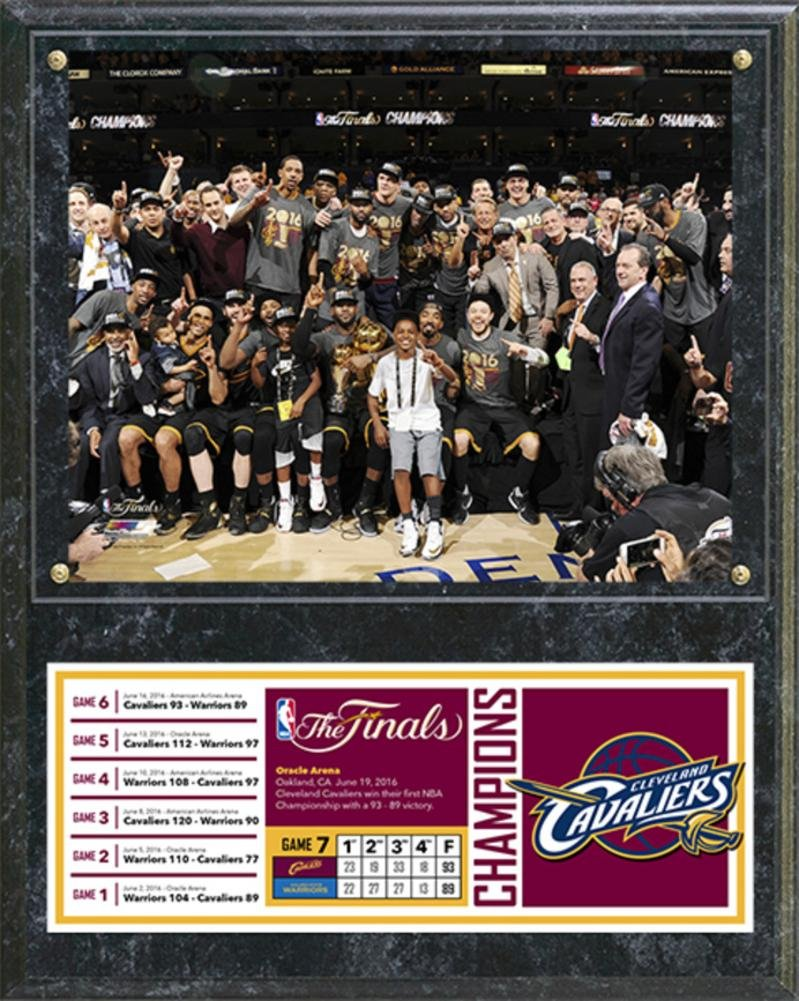 Cleveland Cavaliers 2016 NBA Champions Celebration Down Plaque Wall Sign 15 x 12in