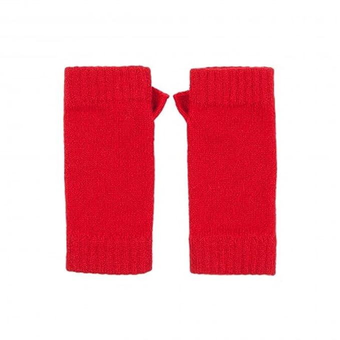 100% escocés Cachemira para hombre/mujer rojo cardenal sin dedos manoplas – fabricado en Escocia por Cachemira Johnstons: Amazon.es: Ropa y accesorios