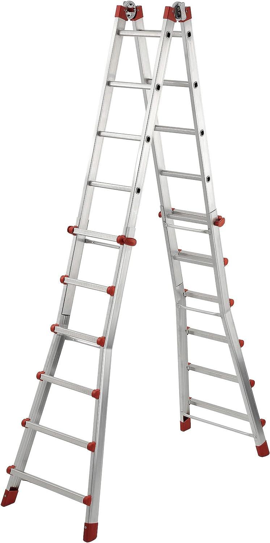 Hailo 7524-151 Escalera plegable, aluminio: Amazon.es: Bricolaje y herramientas