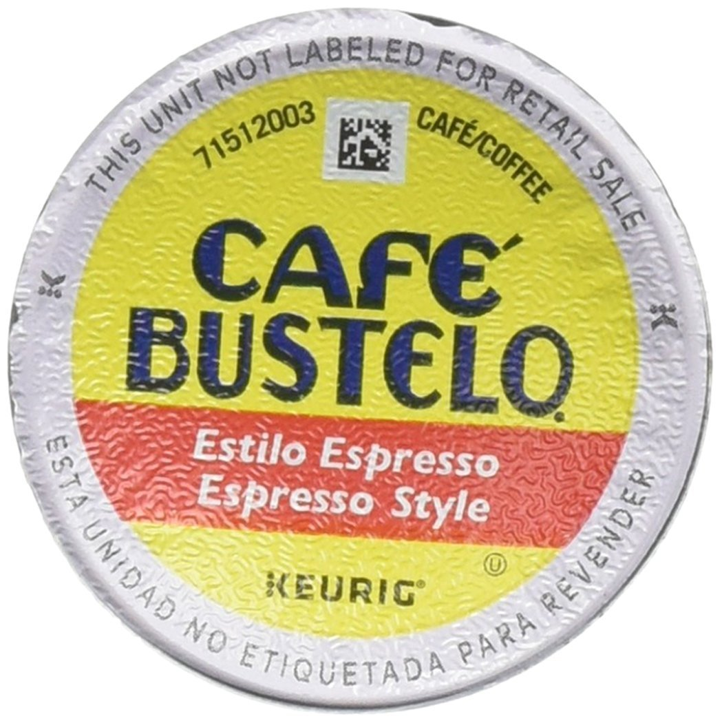 Cafe Bustelo K-Cup Packs, Espresso Style. Pack of 12 pods