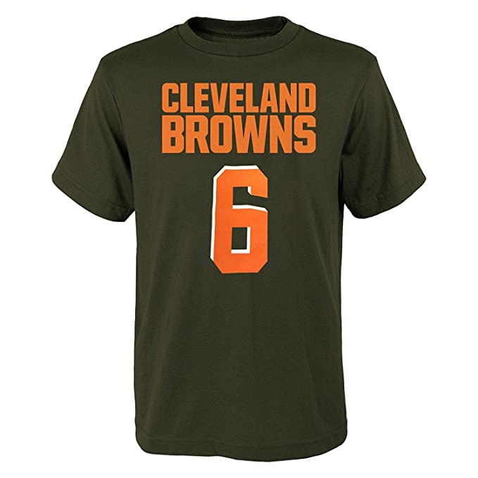 03ee6f06f Amazon.com   OuterStuff Baker Mayfield Cleveland Browns  6 Brown Youth Name    Number T-Shirt   Sports   Outdoors
