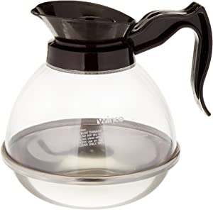 Winco Plastic Coffee Decanter, Stainless Steel, 64-Ounce