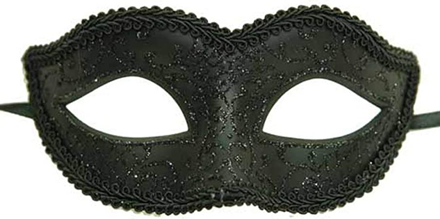 Glitter Mardi Gras Mask Plastic Assorted Colors One Size Fits All