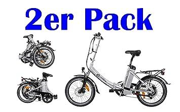 10783e65ba98b3 2 Stück Alu Pedelec e-motos K20 Faltrad Klapprad E-Bike Elektro Bike ...
