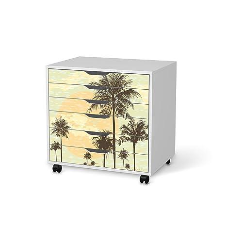 Adhesivo diseño de pegatinas de IKEA Alex escritorio-cajonera con ruedas de 6 cajones | Los ...