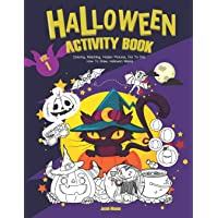 Halloween Activity Book VOL.1: Coloring, Matching, Hidden Pictures, Dot To Dot, How To Draw, Hallowen Masks