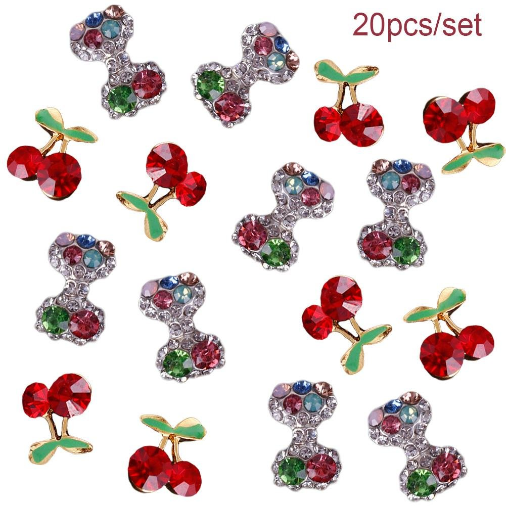 Ownsig 40pcs Mixed Set 3D Heart Red Silver Diamond Gorgeous Alloy Jewelry Pearl Bowknot Glitter Rhinestones DIY Tool Kit Set