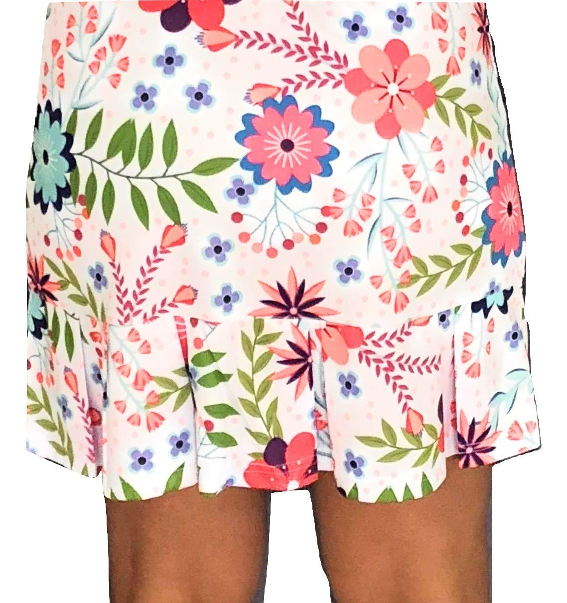 Tennis Skirt, Skort in Print Frill at The Bottom (Medium)