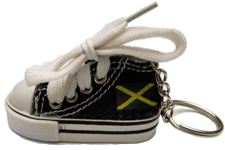 Jamaica Mini canverse shoe shoes Keychain jamaican pride jamaican23