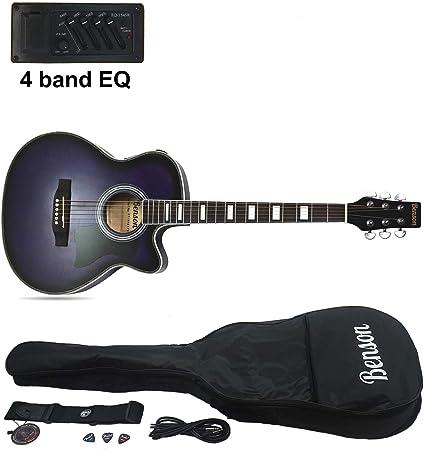 Benson - Guitarra eléctrica semiacústica Matt Satin de tamaño ...