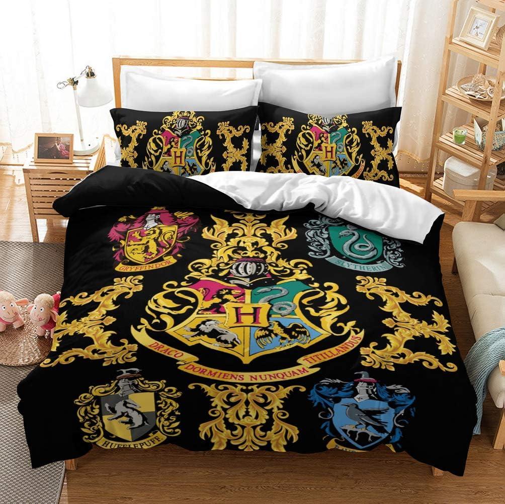 UMOOIN Harry Potter Housse de Couette Impression 3D Animal d/écoratif 3 Ensemble Literie Piece avec 2 Pillow Shams,3,King 240x220cm