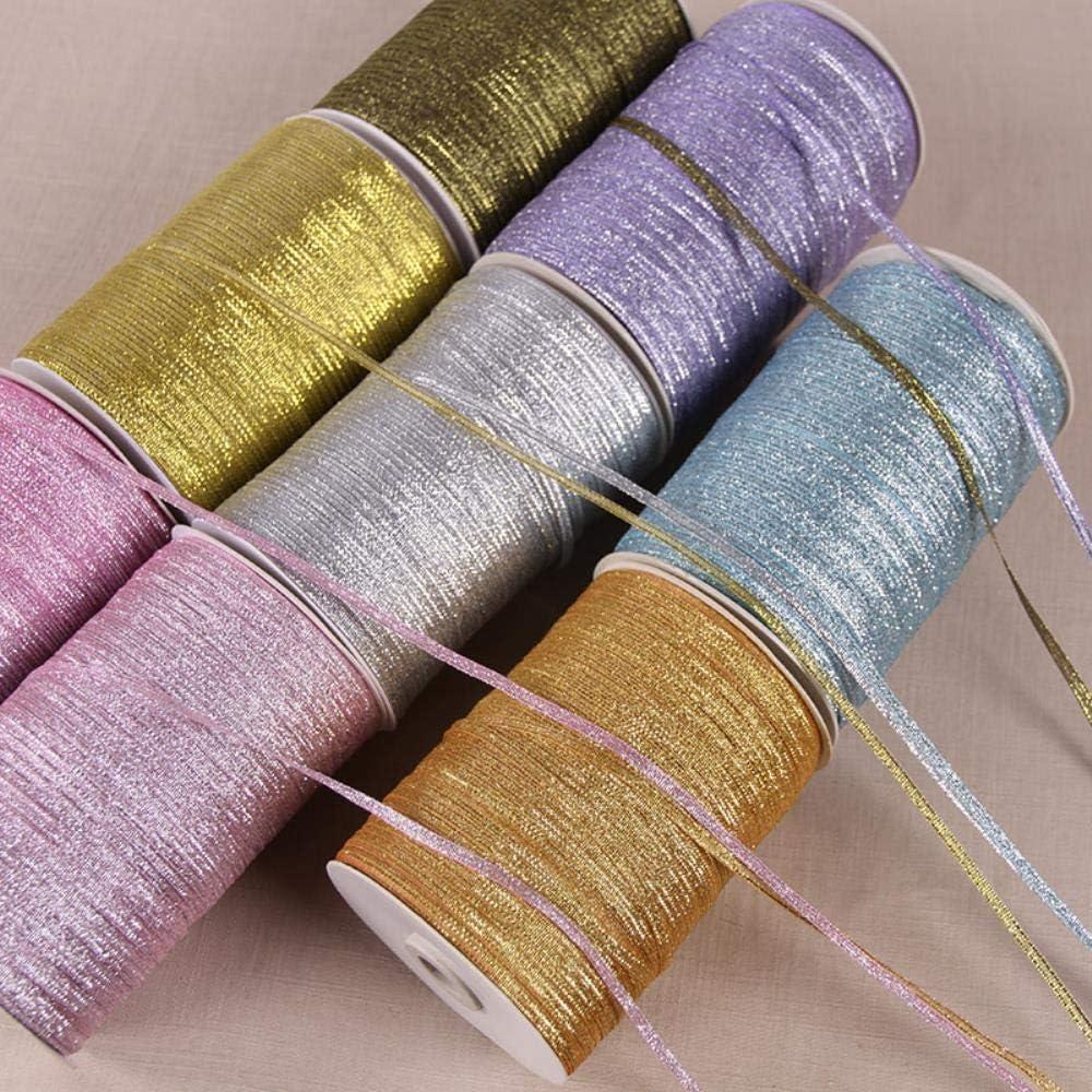 10M // Lot Ruban Organza Multicolore Glitter Brod/é Oignons Rubans pour G/âteau De Mariage D/écor Artisanat Fournitures Oignon Or Noir 10m 2 PCS 3MM