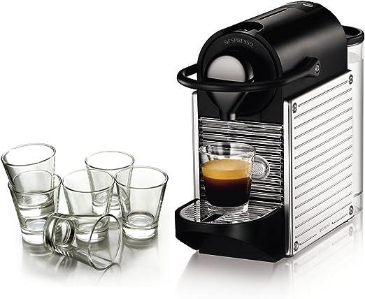 Nespresso Pixie cromo automático máquina de espresso con libre ...