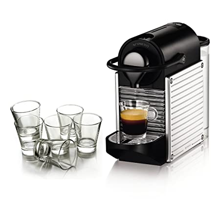 Nespresso Pixie cromo automático máquina de espresso con ...