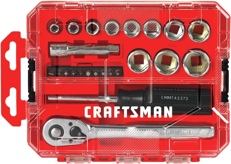 Craftsman juego de llaves de vaso, Nano SAE, 3/8 pulgadas, 24 piezas (CMMT12012): Amazon.es: Bricolaje y herramientas