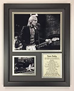 """Tom Petty - Black and White - Framed 12""""x15"""" Double Matted Photos - Legends Never Die, Inc."""