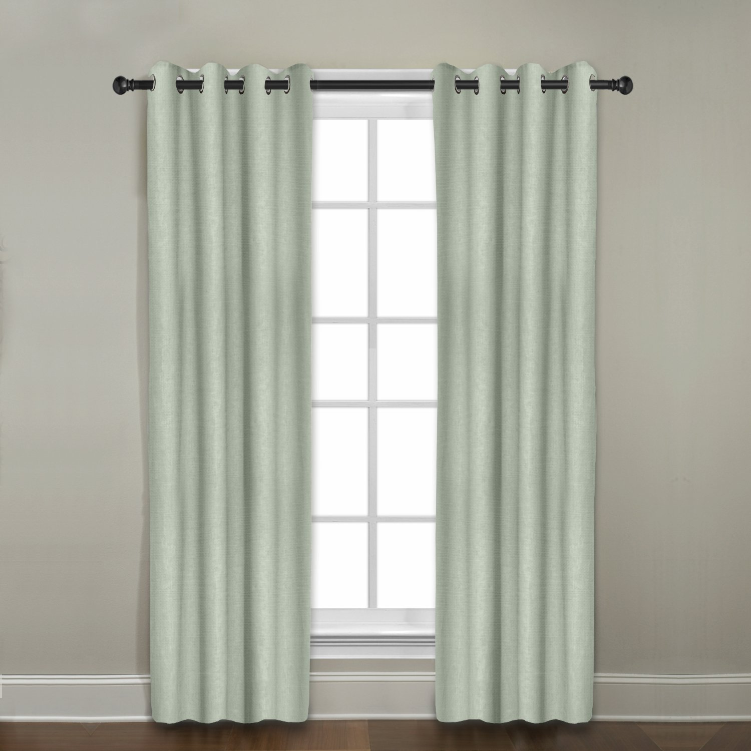 Veratex Contemporary Style 100/% Linen Construction Made In The USA Living Room Grommet Window Panel Curtain 547232 96 96 Inc Mineral Blue