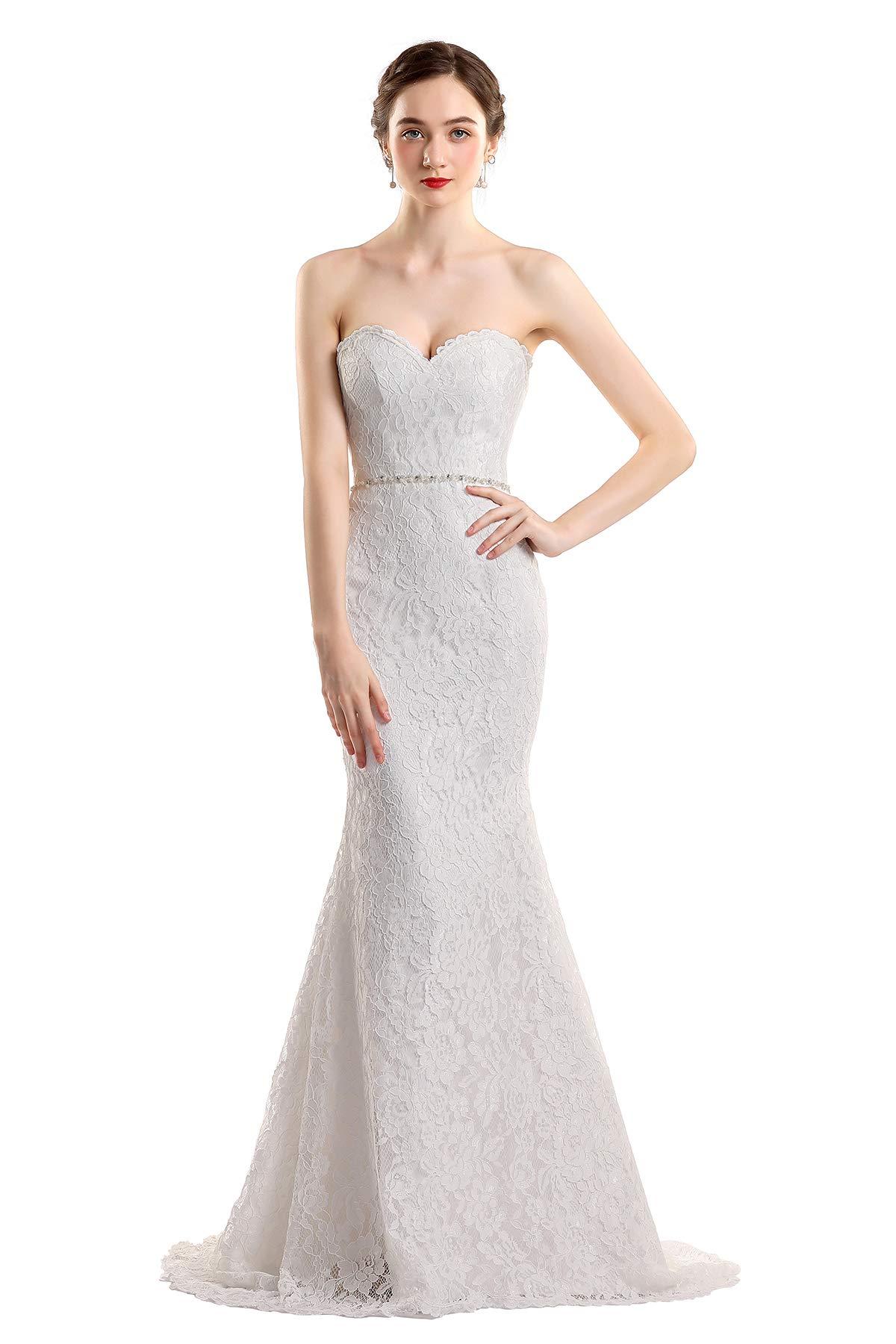 e246f8236d4 ... Lace Beach Wedding Dress Cap Sleeve Bridal Gowns White 12. ; 