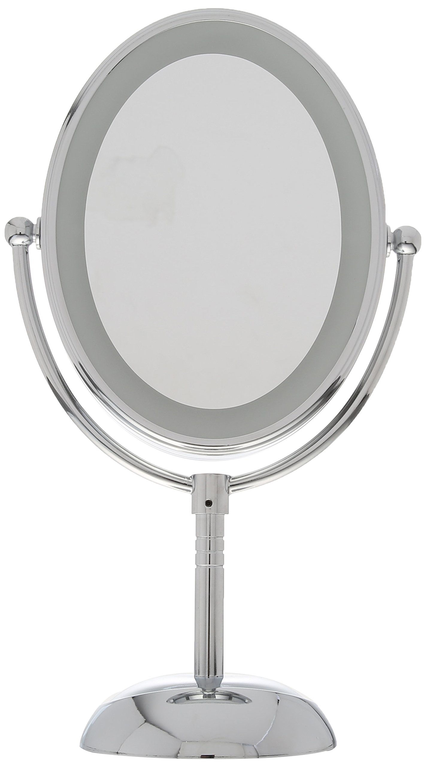 Conair Oval Shaped LED Double-Sided Lighted Makeup Mirror; 1x/7x magnification; Polished Chrome Finish by Conair (Image #2)