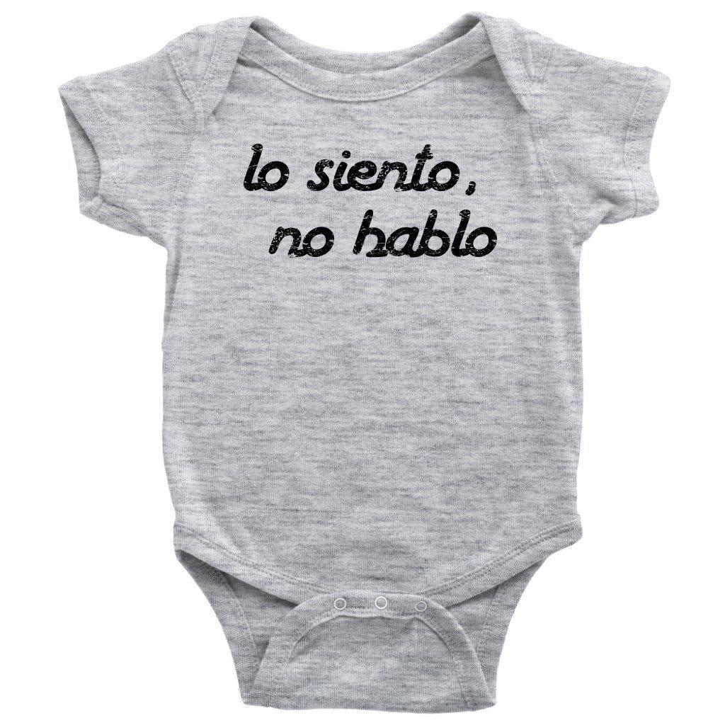 Amazon.com: teehub lo siento no hablo overol Funny español ...