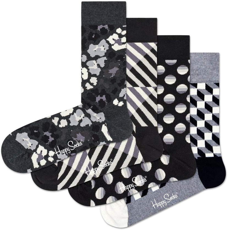 Happy Socks Black /& White Gift Box US 9-11 EUR 36-40 4 pairs