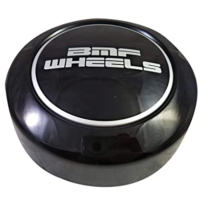 BMF Wheels Center Caps Gloss Black Shorty- Fits All 8 Lug (1 Cap) BMF Logo: Automotive