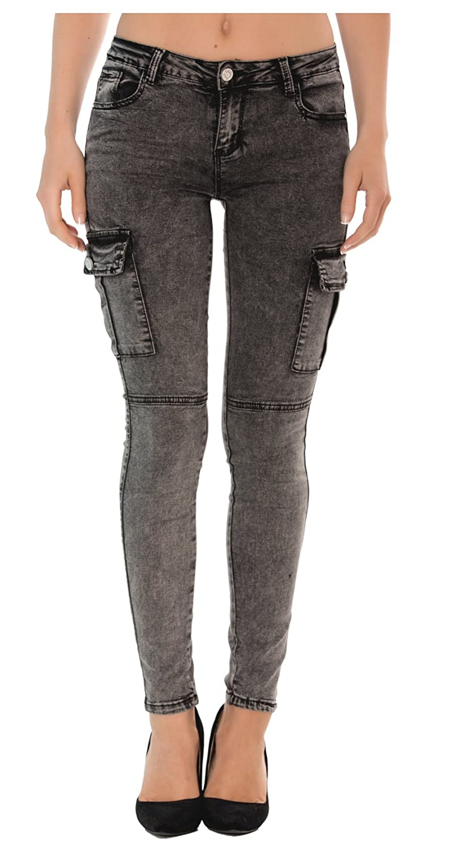 Nina Carter Donna Jeans Slim Skinny, Pantaloni Denim Stretch da 34 a 42