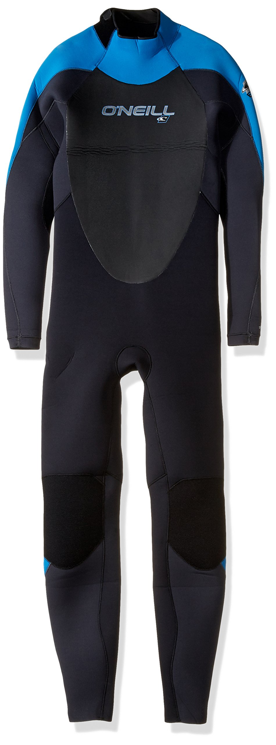 O'Neill Youth Epic 4/3mm Back Zip Full Wetsuit, Black/Graphite, 16 by O'Neill Wetsuits