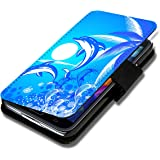 Book Style Flip Handy Tasche Case Schutz Hülle Schale Motiv Etui für Sony Xperia Z - Flip 1X10 Design1
