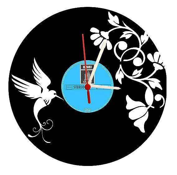 Reloj De Pared, Birds Diseño Tocadiscos Reloj con cuarzo ...