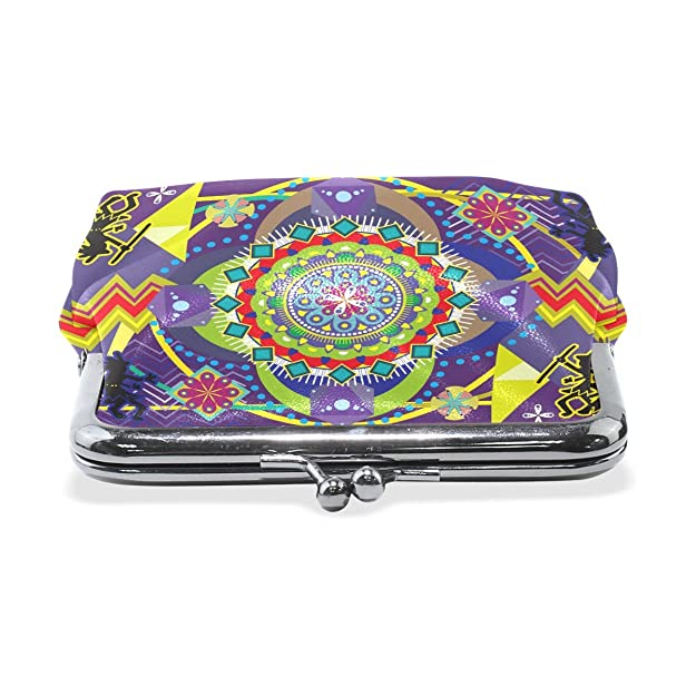 Amazon.com: LALATOP Huichol Vector Art - Monedero para mujer ...