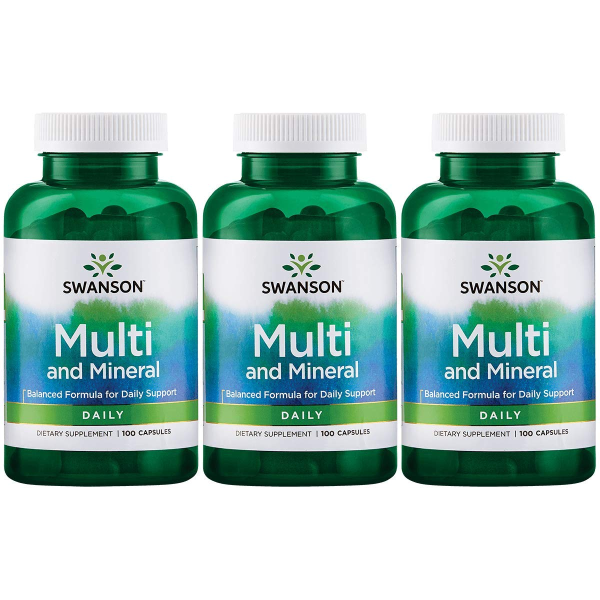 Swanson Multi and Mineral Daily Men s Women s Multivitamin Multimineral Health Supplement 100 Capsules Caps 3 Pack