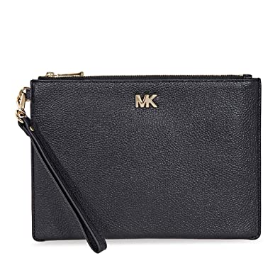 90eb6024bbbd3 MICHAEL Michael Kors Medium Leather Pouch - Black  Handbags  Amazon.com