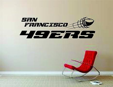 Amazon Com San Francisco 49ers Wall Mural Vinyl Decal Sticker Decor Nfl Football Rugby Logo Home Kitchen