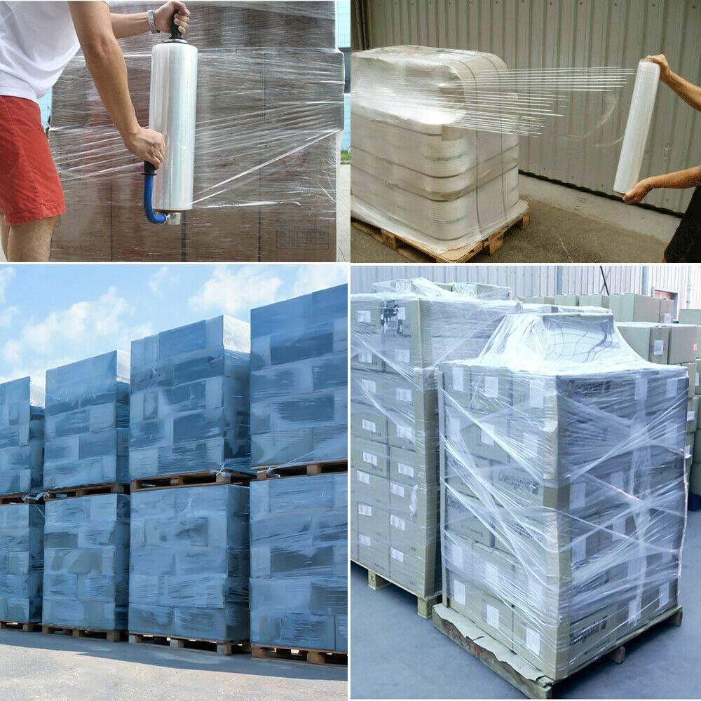 18 x 1500 80 Gauge 4 Rolls Pallet Wrap Stretch Film Hand Shrink Wrap 1500FT