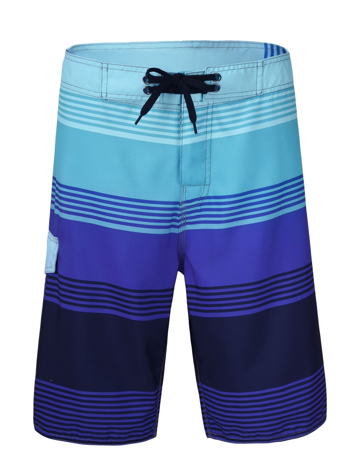 Nonwe Men's Pattern Lightweight Beach Swim Board short 11920 -  32,Blue Stripes