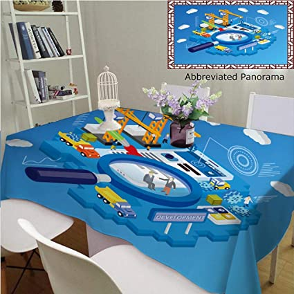 bbfca909080f Amazon.com: Unique Custom Cotton And Linen Tablecloths Flat D ...