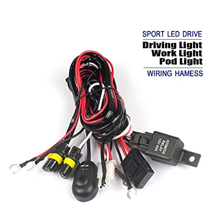 71qmPdsSA5L._SX425_ amazon com 9005 9006 led fog light relay wiring harness kit 12v30a