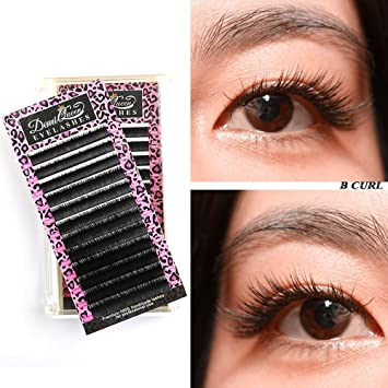 c8a11b1c33d DEMI QUEEN 100% Real Mink Individual Eyelashes Extensions Natural Volume  Eye Lash Salon Use Mix
